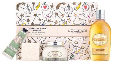 L´Occitane Almond Shower Oil 250ml + 100ml Milk Concentrate + 30ml Delicious Hands + 100g Bonne Mere Milk Soap