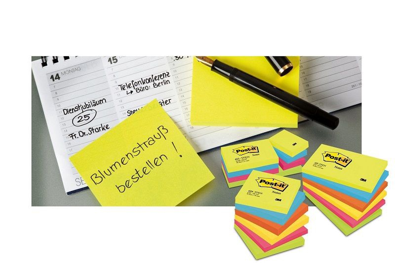 3M Post It 654N Sticky Notes 100pcs Neon Pink