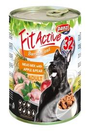 Konservi pieaugušiem suņiem Panzi Fit Active Meatmix, ar gaļas izlasi, āboliem un bumbieriem, 415 g