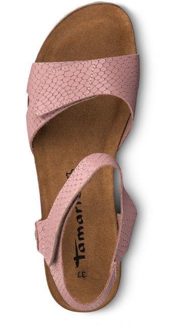 Basutės,Tamaris Sandal 1-1-28700-22, Pink Structure, 38