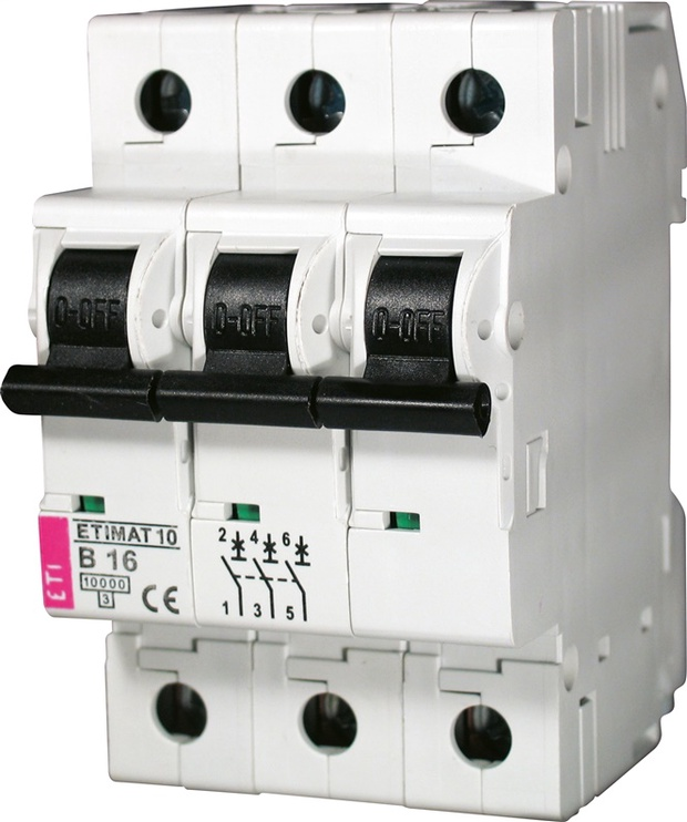 Automatinis jungiklis ETIMAT 10, 3P, B, 25A, 10kA
