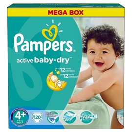Pampers Active Baby-Dry S4 Plus 120