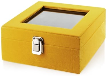 Mondex Carmen Casket Yellow With Mirror 18.4x18.4x9.3cm