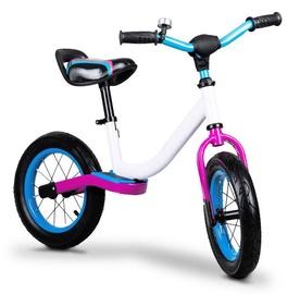 EcoToys Cross Country Balance Bike White/Blue/Purple