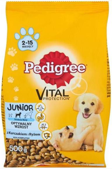 Sausas ėdalas šunims Pedigree Vital Protection Junior, 500 gr