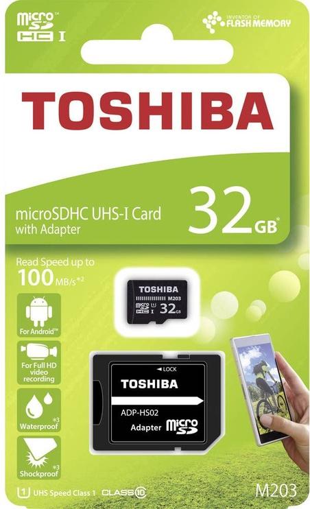 Toshiba M203 32GB microSDXC UHS-I Class 10 + SD Adapter