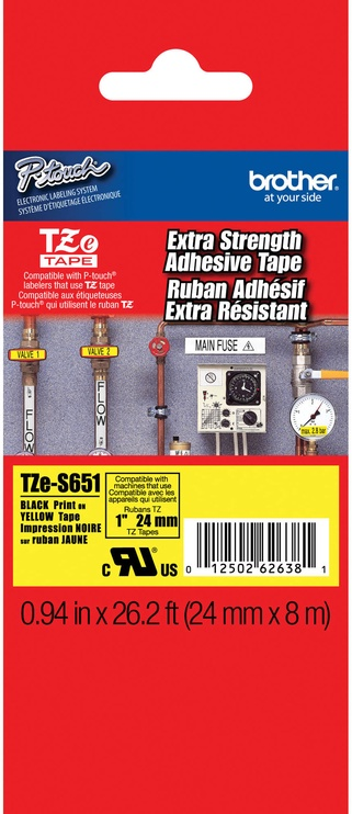 Этикет-лента для принтеров Brother TZe-S651, 800 см