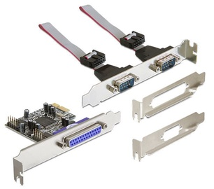 Delock PCI Express Card 2 x Serial RS-232 / Parallel DB25