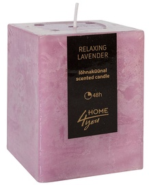 Home4you Candle Relaxing Lavender 7.5x7.5xH10cm