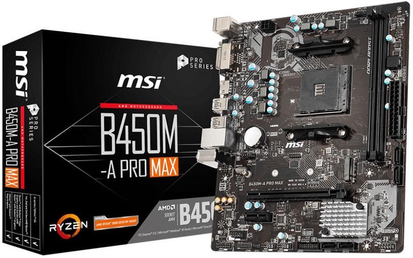 Mātesplate MSI B450M-A PRO MAX