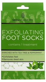 Skin Academy Exfoliating Foot Socks Tea Tree & Peppermint 1pcs