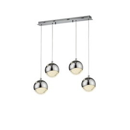 Domoletti Bubble A1853-4S Ceiling Lamp 4x7W LED Chrome