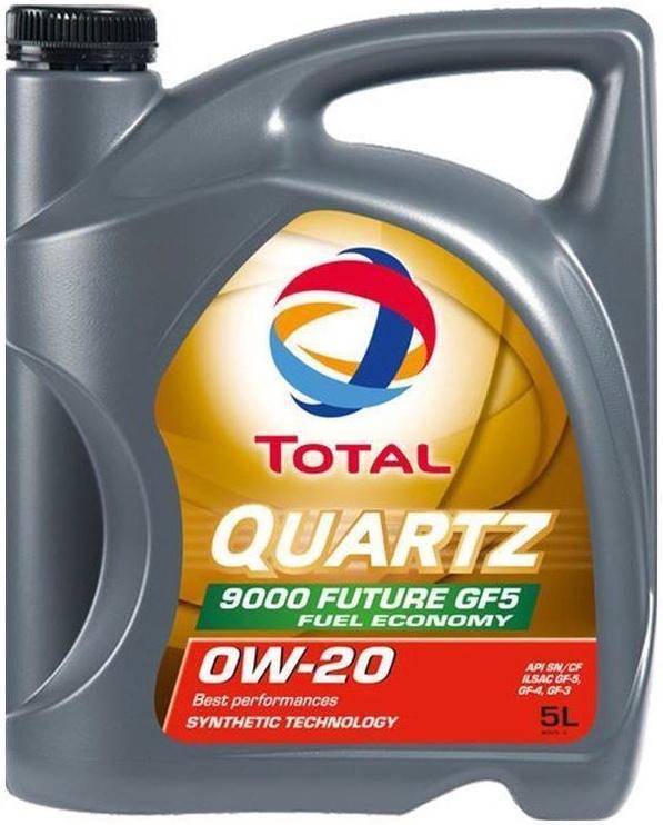 Машинное масло Total Quartz Future GF5 0W - 20, синтетический, для легкового автомобиля, 5 л