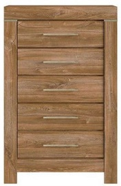 Kumode Black Red White Gent Stirling Oak, 70x45x110 cm