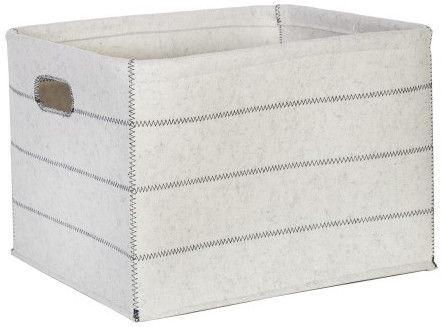 Home4you Max Felt 1 46x36xH30cm Basket White