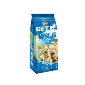 Suņu barība Get Wild Puppy Sensitive - Jērs & Zivs 15kg