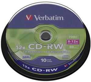 Verbatim CD-RW 12x 700MB 10pcs