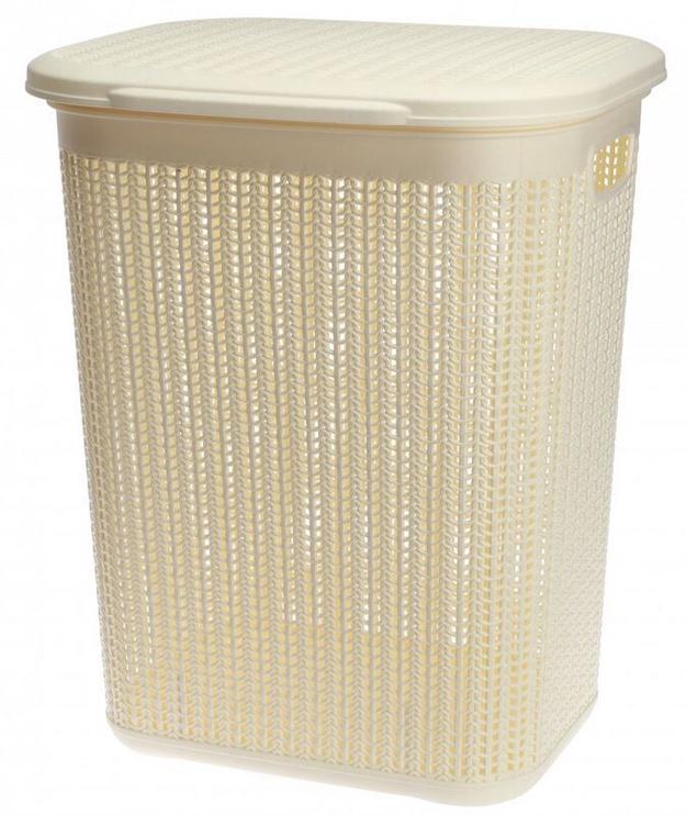 Galicja Plastic Laundry Basket Beige 50l