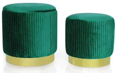 Homede Arya Poufs Bottle Green 2pcs