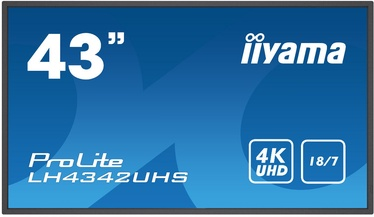 "Monitorius Iiyama ProLite LH4342UHS-B1, 42.5"", 9 ms"