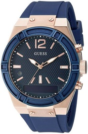Guess Watch Connect 45mm Smooth Silicone Strap Blue