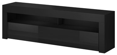 Vivaldi Meble Mex 2 TV Stand Black/Black Gloss
