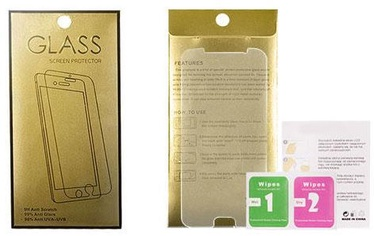 Gold Tempered Glass Screen Protector For Huawei P Smart