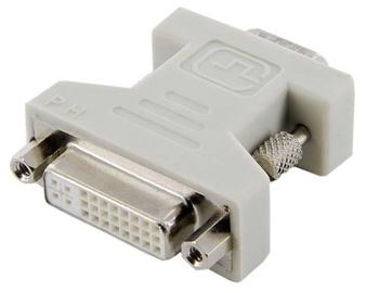 4World Adapter DVI-I to VGA Grey