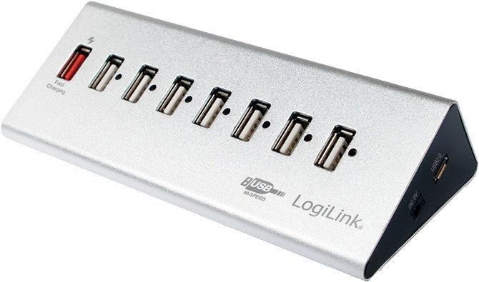 USB-разветвитель (USB-hub) LogiLink USB 2.0 7-Port + 1 x Fast Charging Port