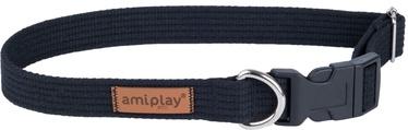 Ошейник Amiplay Cotton, черный, 500 мм