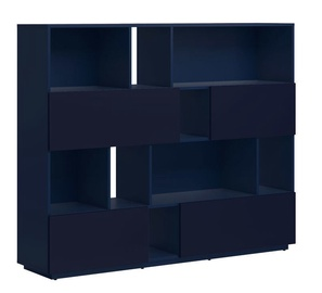 Black Red White Moko Bookstand Dark Blue