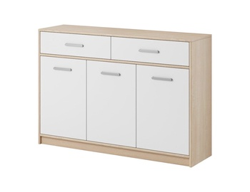 WIPMEB Tulia 3D 2S Chest Of Drawers Sonoma Oak/White