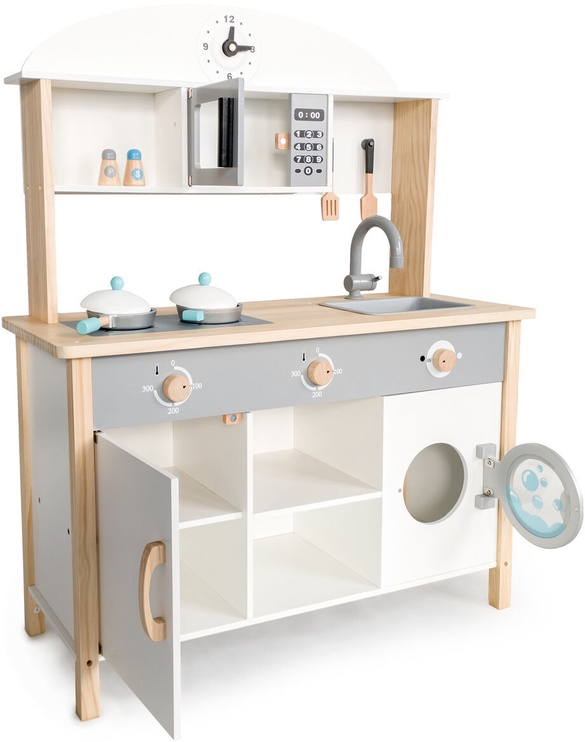 EcoToys XXL Wooden Kitchen White 214337