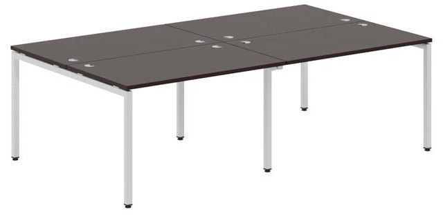 Skyland Xten-S Office Desk XWST 2814 Legno Dark/Aluminium