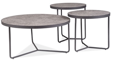 Signal Meble Demeter Coffee Table Set Gray/Black