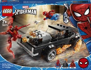 Конструктор LEGO Marvel Человек-Паук и Призрачный Гонщик против Карнажа 76173, 212 шт.
