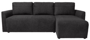 Black Red White Arbon Corner Sofa Black