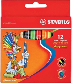 Stabilo Yippy Wax Crayons 12pcs