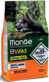 Monge BWild Grain Free Puppy & Junior Duck With Potatoes 12kg
