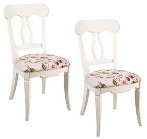 Home4you Chairs Elizabeth Antique White 2pcs