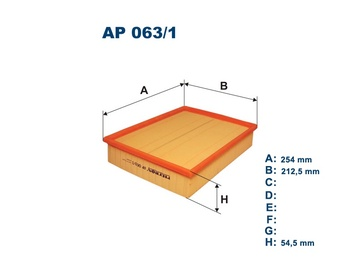 Automobilių oro filtras Filtron AP 063/1