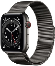 Išmanusis laikrodis Apple Watch Series 6 GPS LTE + Cellular, 40mm Stainless Steel Graphite Milanese Loop, juoda