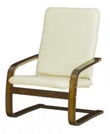 Bodzio Bajka Armchair Seat Unit Nut White 20S