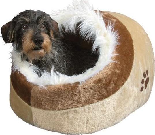Кровать для животных Trixie Minou, коричневый/песочный, 410x500 мм
