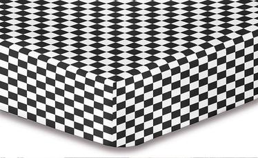 Palags DecoKing Hypnosis, melna, 200x220 cm, ar gumiju