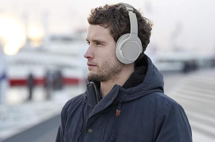 Belaidės ausinės Audio-Technica AT-SR30BT, pilkos