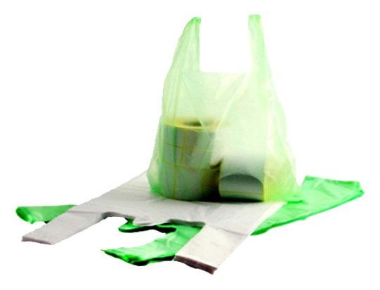 Pakavimo maišeliai, su rankenomis, 36 x 24 cm, 100 vnt.