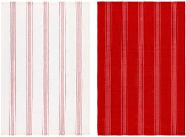 Virtuves dvielis Verners Maku Red/White, 50x70 cm