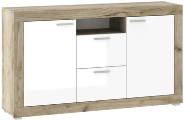 Tuckano KH-150 Warsaw Chest of Drawers 1170x900x370mm Oak/White