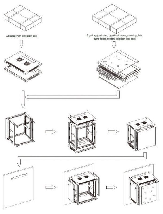 "LinkBasic Hanging Rack Cabinet 19"" 6U WCB06-645-AAA-C"